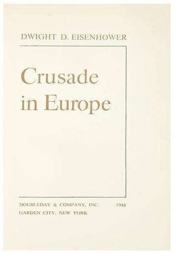4: EISENHOWER, Dwight. Crusade in Europe.