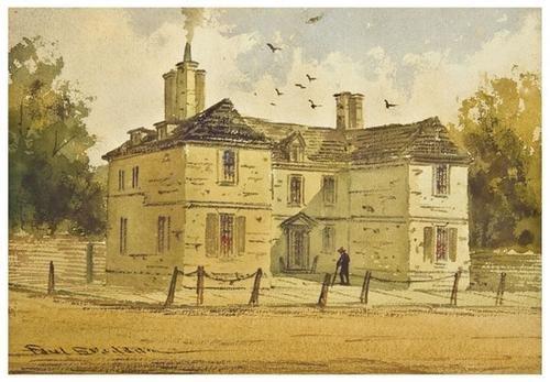 26: [WATERCOLORS-- WILLIAM PENN]. Paul Braddon (1864 -