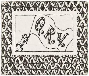 GOREY, Edward -- Miniature Book. Q.R.V.