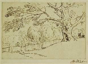 5: Benjamin West (1738-1820) Study of a tree