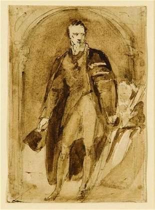 12: Sir Thomas Lawrence (1770-1836) Male portrait sket