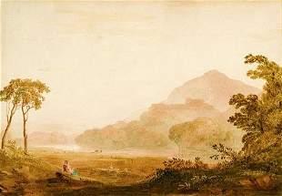 15: John Varley (1778-1842) Sheep grazing by a stream