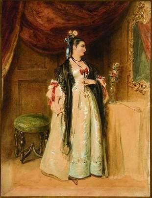 16: Alfred Edward Chalon (1780-1860) A woman gazing in