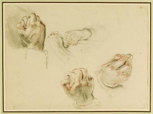 17: Sir William Allan (1782-1850) Studies of hands