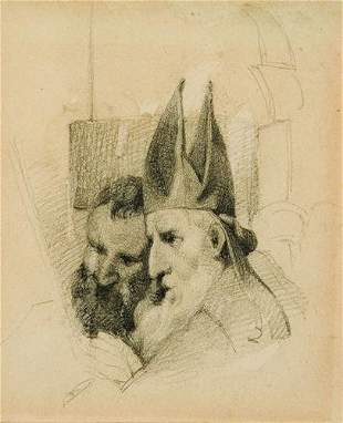 19: William Mulready,(1786-1863) A Bishop and Another