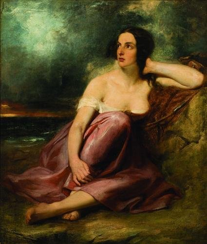 23: Circle of William Etty Woman Resting Against Rock
