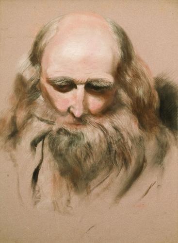 24: William Etty, (1787 - 1849) Head study on an Old M