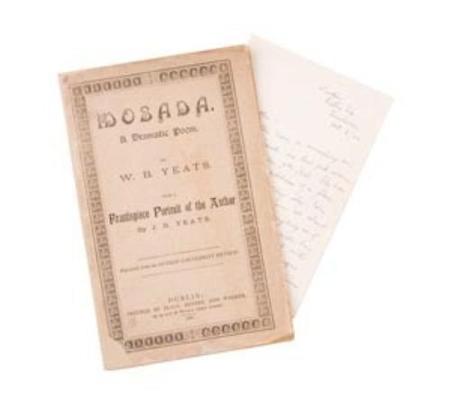 1: YEATS, W. B. (1865 - 1939) Mosada. A Dramatic Poem