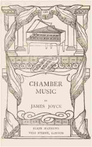 JOYCE, James (1882 - 1941) Chamber Music. London
