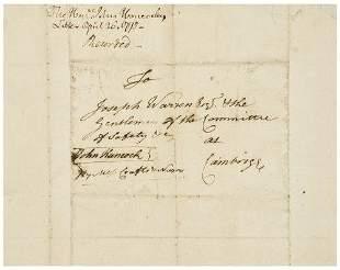 [AMERICAN REVOLUTION] -- John HANCOCK (1736 - 1793