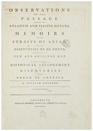 GOLDSON, William. Observations on the Passage betw
