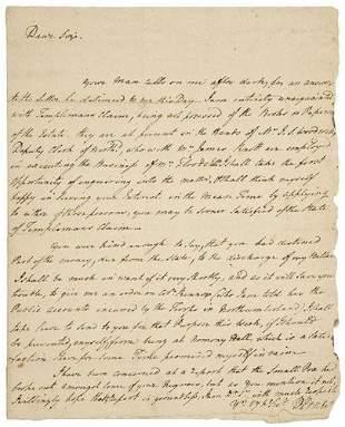 [SLAVERY] -- Robert CARTER III (1727/28 - 1804).