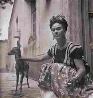 "Nicholas Muray (1895-1965) ""Frida with Granizo, ca"