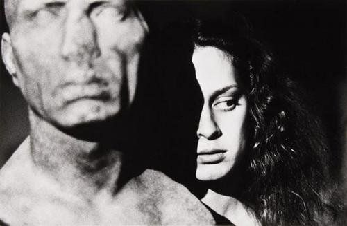 """Ralph Gibson (b. 1939) """"Untitled (Female with scul"""