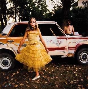 "Michal Chelbin (b. 1974) ""Alicia in a Golden Dress"