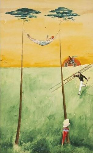 3: Rudolf Bauer (1889-1953) Untitled (Hammock), 1936