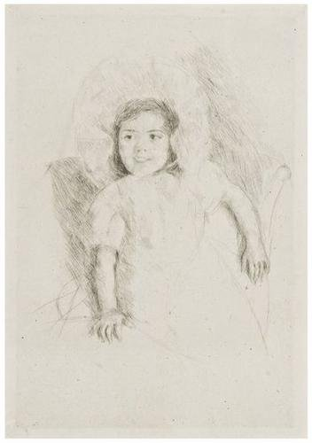 7: Mary Cassatt (1844-1926) Margot wearing a bonnet
