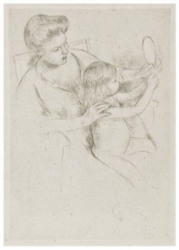 8: Mary Cassatt (1844-1926) Looking into the hand mir