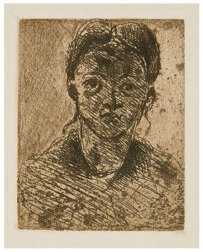 9: Paul Cezanne (1839-1906) Tete de Femme