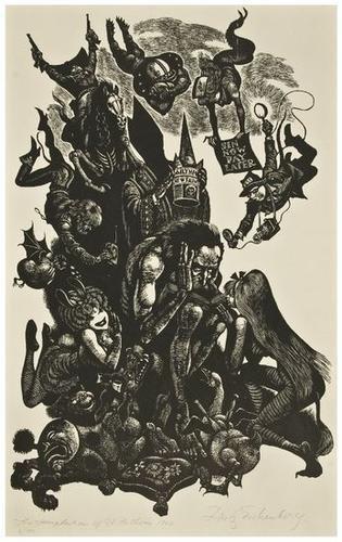 14: Fritz Eichenberg (1901-1990) Temptation of Sir Ant
