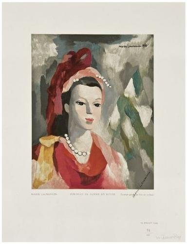 17: Marie Laurencin (1883-1956) Portrait de Femme en R