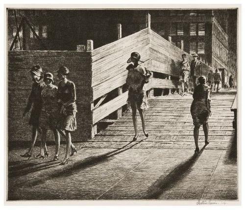 18: Martin Lewis (1881-1962) Fifth Avenue Bridge