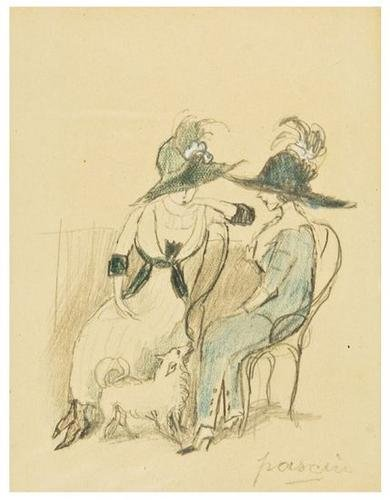 21: Jules Pascin (1885-1930) Two Ladies in Discussion