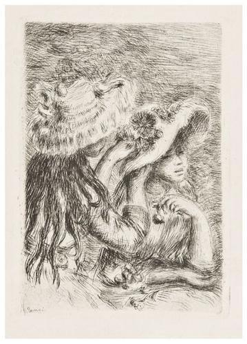22: Pierre-Auguste Renoir (1841-1919) Le Chapeau eping