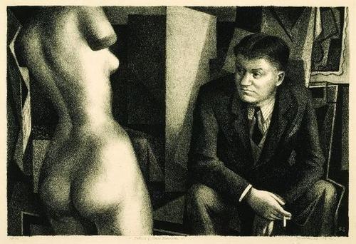 22B: Benton Spruance (1904-1967) Portrait of Henry Marc