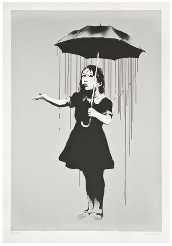 40: Banksy (b.1975) Nola (Grey Rain)