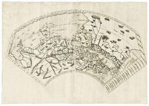 1: WORLD  MAP- PTOLEMAEUS [Untitled world map]