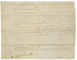 [AMERICANA - LAND GRANTS] Two land grants signed b