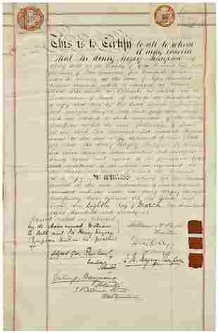 [AMERICANA] Sir Henry M. MEYSEY-THOMPSON, Signed