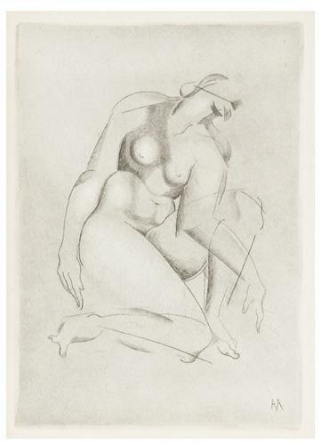 4: Alexander Archipenko (1887-1964) Kneeling Figure