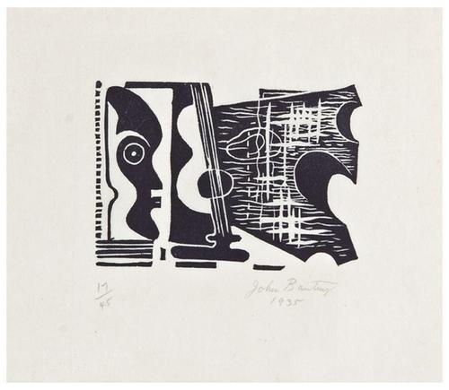 10: John Banting (1902-1972) Surrealist Composition