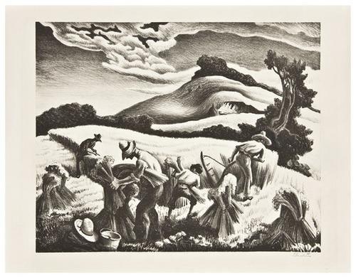 20: Thomas Hart Benton (1889-1975) Cradling Wheat