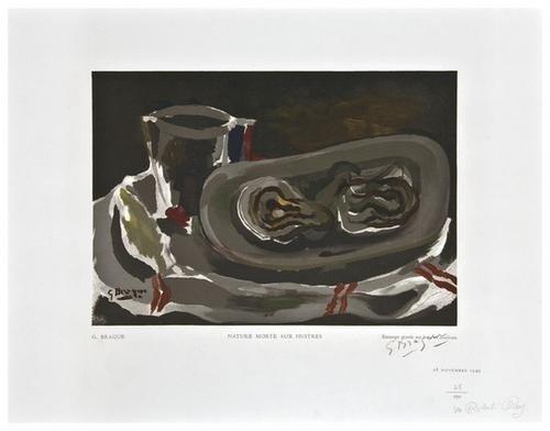 22: Georges Braque (1882-1963) Nature Morte aux Huitre