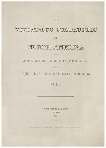 3: AUDUBON, John (1785-1851) and  Rev. John BACHMAN(1