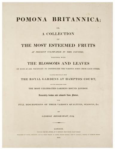 13: BROOKSHAW, George (1751-1823) Pomona Britannica; o