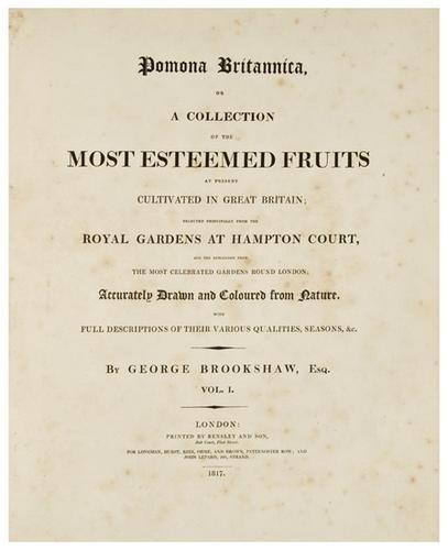 14: BROOKSHAW, George (1751-1823) Pomona Britannica; o