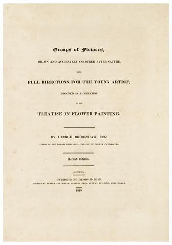 15: BROOKSHAW, George (1751-1823) Groups of Flowers, d