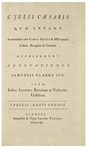 123: CAESAR, Caius Julius (100-44 B.C) [Opera]
