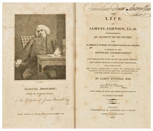 10: BOSWELL, James. The Life of Samuel Johnson.