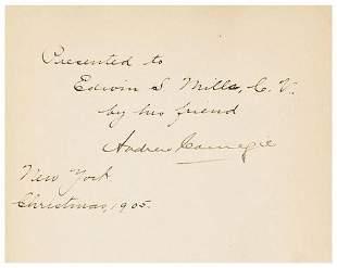 CARNEGIE, Andrew James Watt.
