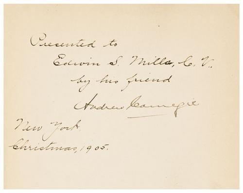 15: CARNEGIE, Andrew James Watt.