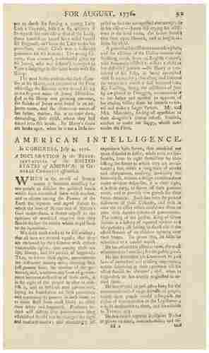 DECLARATION OF INDEPENDENCE The First English Prin