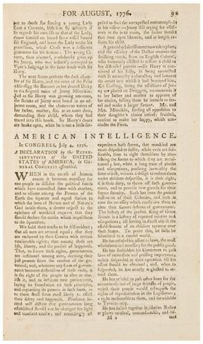 24: DECLARATION OF INDEPENDENCE The First English Prin