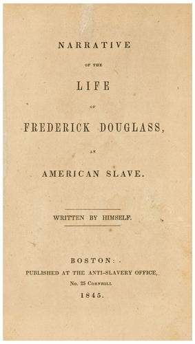 DOUGLASS, Frederick Narrative of the Life of Frede