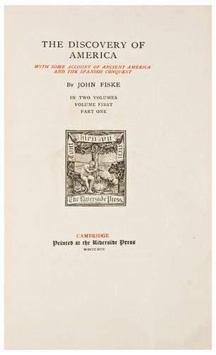 FISKE, John A group of titles