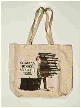 "GOREY, Edward (1925-2000) Signed tote bag: ""So Man"